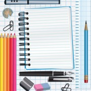 Link toDifferent school supplies vector graphic set 11