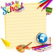 Link toDifferent school supplies vector graphic set 07