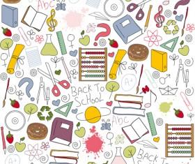 Different School Symbols mix vector 01