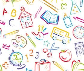 Different School Symbols mix vector 02