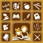 Link toDifferent school symbols mix vector 03