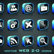 Link toSet of different web 2.0 icons vector