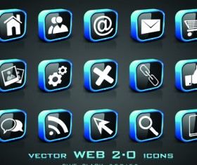 Set of Different web 2.0 icons vector