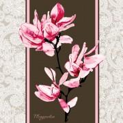 Link toSet of magnolia invitations cover vector graphic 03