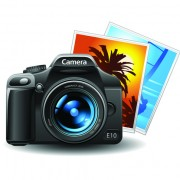 Link toSet of different photo camera elements vector 01