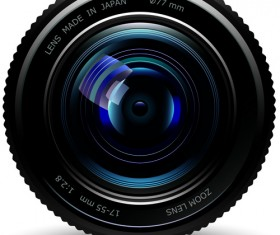 Set of different Photo Camera elements Vector 03