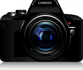 Set of different Photo Camera elements Vector 05