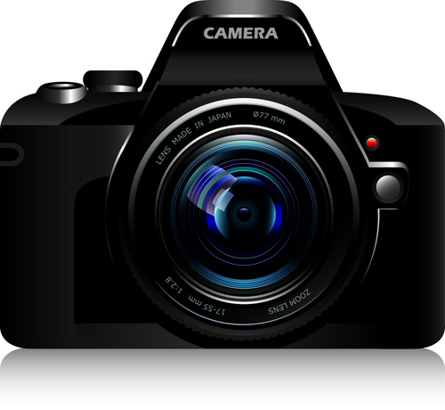 Set of different Photo Camera elements Vector 05 - Vector Other ...