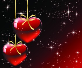 Set of luxurious Valentine Cards Vector 03