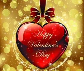 Set of luxurious Valentine Cards Vector 04