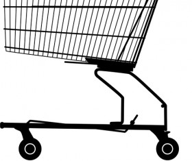 Set of Shopping trolley elements vector graphic 01