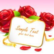 Link toSpring flower elements greeting cards vector 01