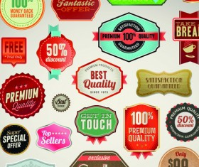 Business elements Stickers and labels vector 03