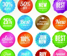 Various sale Stickers and labels design vector 01