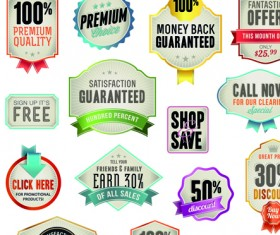 Various sale Stickers and labels design vector 02