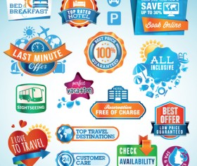 Various sale Stickers and labels design vector 04