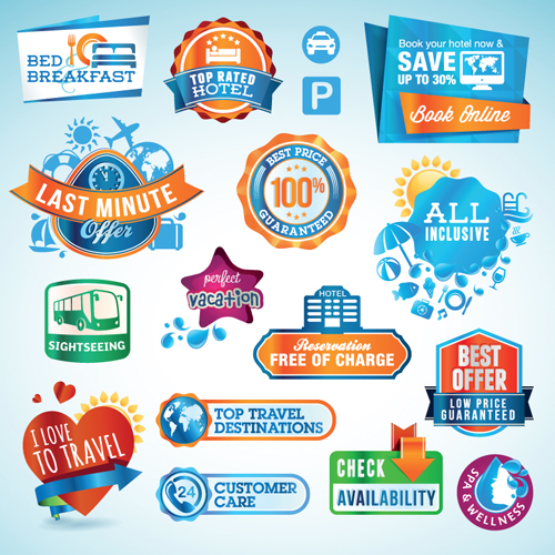 Various sale Stickers and labels design vector 04 free download