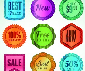 Various sale Stickers and labels design vector 05
