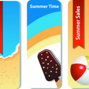 Link toSummer time background and illustration vector 02