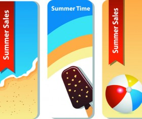 Summer Time background and Illustration vector 02