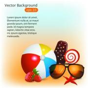 Link toSummer time background and illustration vector 03