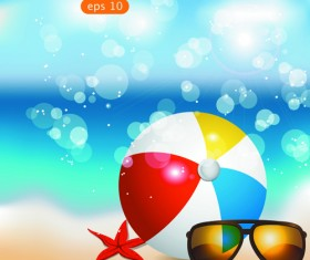 Summer Time background and Illustration vector 04
