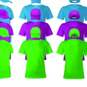 Link toColorful t-shirts and caps uniform vector template 01