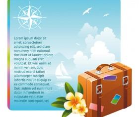 Different Travel elements vector set 01