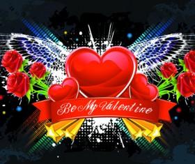 Valentine Day Creative background vector set 02