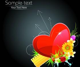 Valentine Day Creative background vector set 01