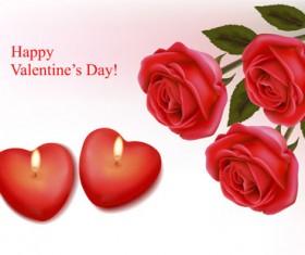 Valentine theme elements vector background set 04