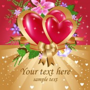 Link toBright valentine day card background vector 01
