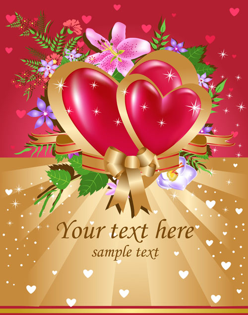 bright valentine day card background vector 01 - vector background, Ideas
