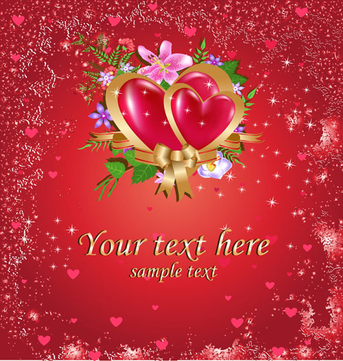 Bright Valentine Day Card Background Vector 02 Free Download