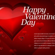 Link toRed style for valentine day design vector 03