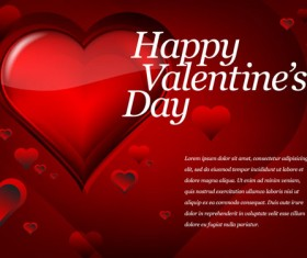 Red Style for Valentine day design vector 03