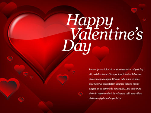 Red Style For Valentine Day Design Vector 03 Free Download