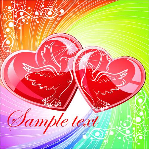 Bright Valentine day card background vector 03 Vector Background – Valentines Card Background