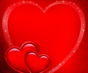 Red Style for Valentine day design vector 04
