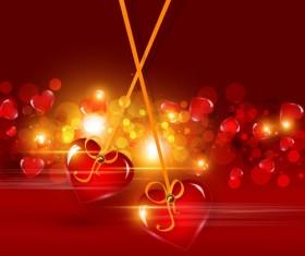 Bright Valentine day card background vector 05