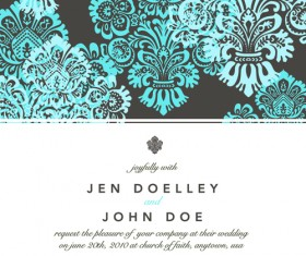 Vintage Floral invitations cover design vector 04
