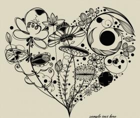 Romantic love Theme elements vector set 04