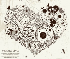 Romantic love Theme elements vector set 05