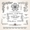 Set of Vintage design elements vector Borders 01