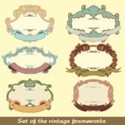 Link toSet of vintage frameworks elements vector 05