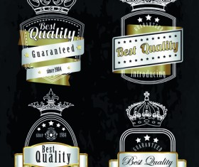 Vintage quality and premium labels vector 01