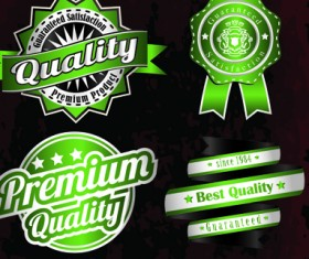 Vintage quality and premium labels vector 05