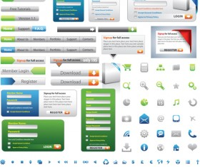 Web Elements Button ,Login Interface and icon