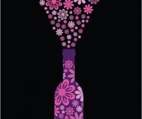 Elements of Wine design vector graphic set 01
