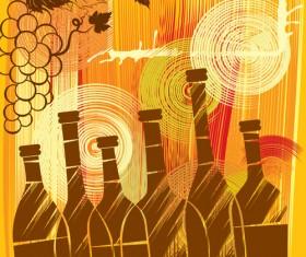 Elements of Wine design vector graphic set 02
